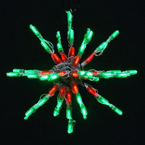 """LED 12"""" STARBURST (RED/GREEN)"""