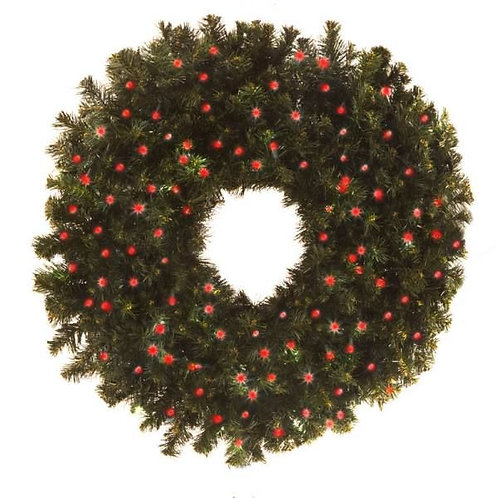 """LED 36"""" WREATH CONCAVE (RED)"""