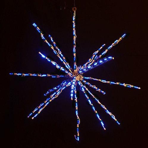 """LED 34"""" STARBURST (BLUE)"""