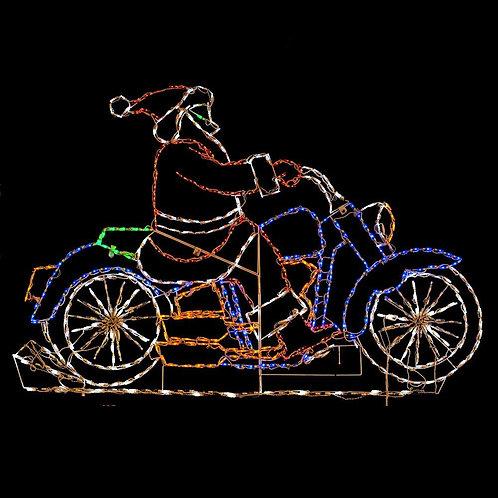 LED SANTA ON MOTORCYCLE