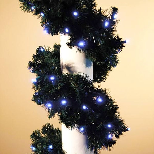 LED 9' GARLAND CONCAVE (ICE BLUE)