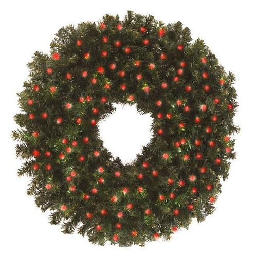 """LED 48"""" WREATH CONCAVE (RED)"""