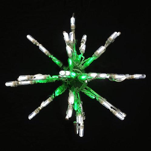 """LED 12"""" STARBURST (GREEN/WHITE)"""