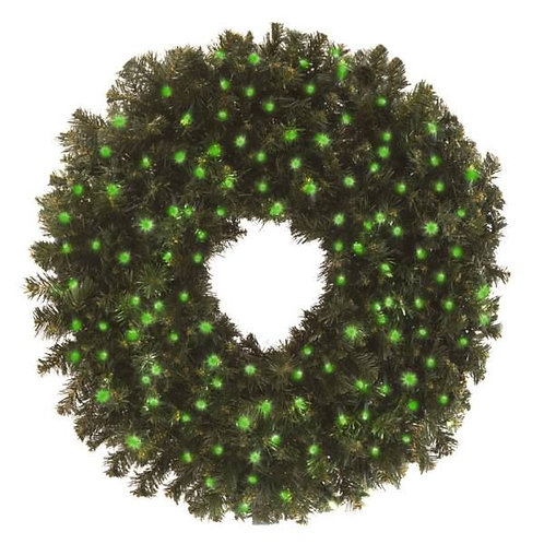 "LED 48"" WREATH CONCAVE (GREEN)"