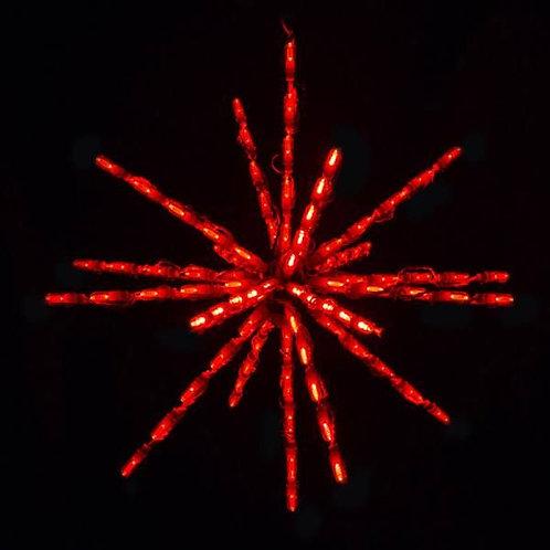 """LED 24"""" STARBURST (RED)"""