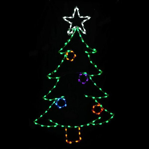 LED C7 CHRISTMAS TREE W/ ORNAMENTS
