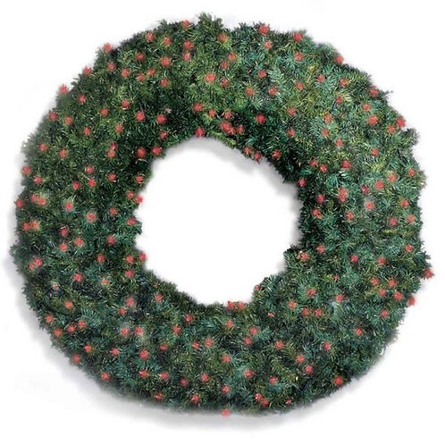"""LED 60"""" WREATH CONCAVE (RED)"""