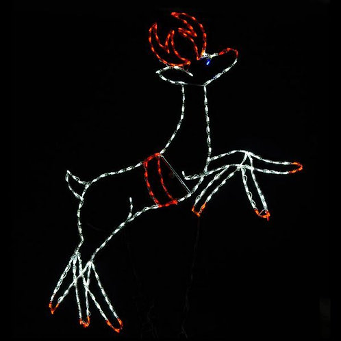 LED ANIMATED LEAPING REINDEER