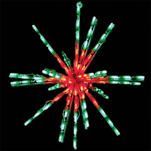 "LED 24"" STARBURST (RED/GREEN)"