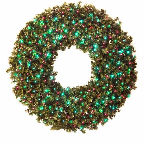 "LED 48"" WREATH CONCAVE (RED/GREEN)"