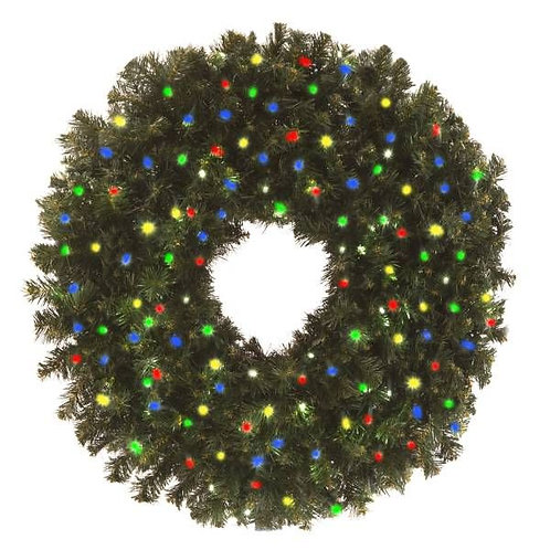 "LED 48"" WREATH CONCAVE (MULTI)"