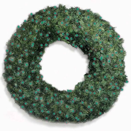 """LED 60"""" WREATH CONCAVE (GREEN)"""