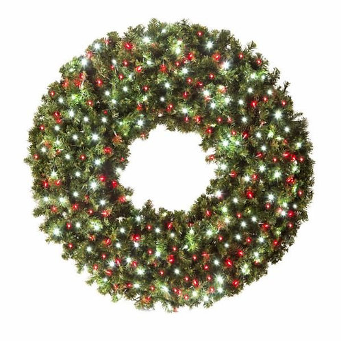 """LED 60"""" WREATH CONCAVE (RED/WHITE)"""