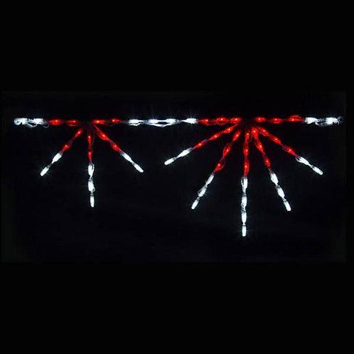 LED STARBURST LINKABLE (RED/WHITE)