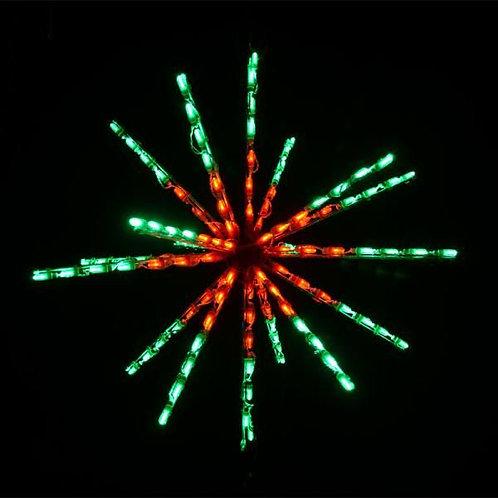 """LED 34"""" STARBURST (RED/GREEN)"""