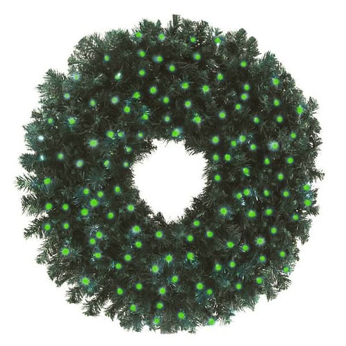 """LED 36"""" WREATH CONCAVE (GREEN)"""