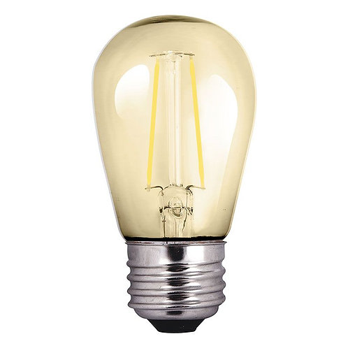 S14 2-Watt Dimmable LED Bistro Light Bulb