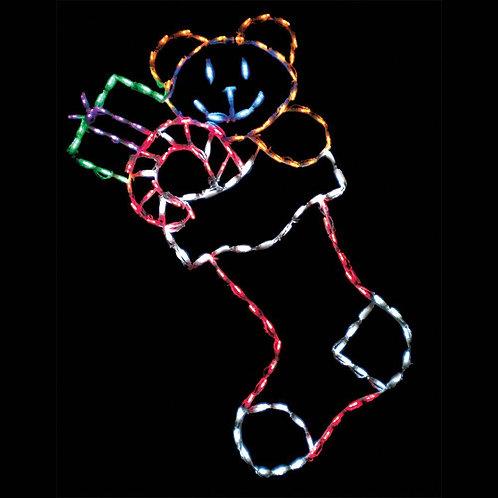 LED STOCKING LARGE W/ TOYS