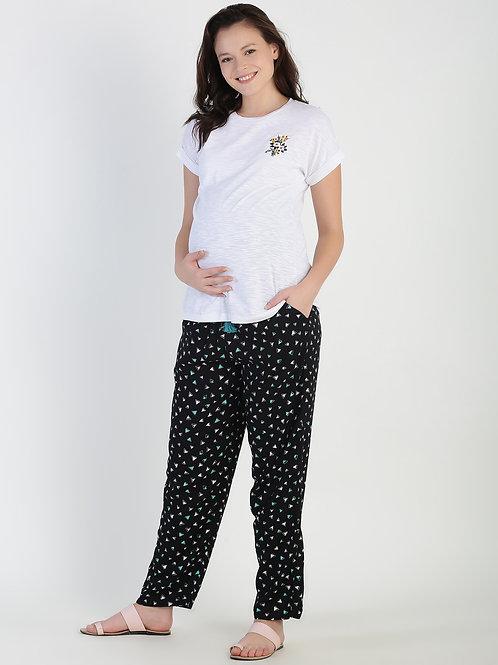 Black Printed Pajama