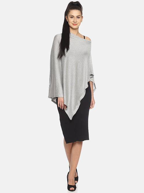 Fashionable Nursing Lurex Shrug