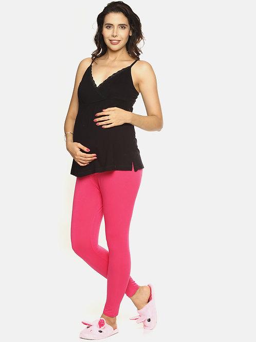 Trendy Maternity Leggings - Pink