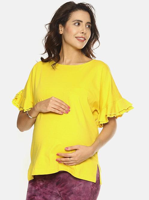 PRETTY MAMMA Slogan Maternity Top