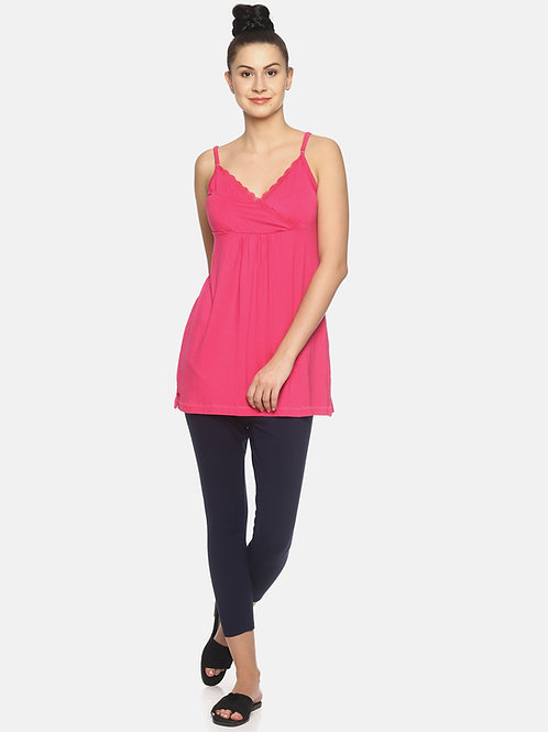 Cami Long Vest - Pink