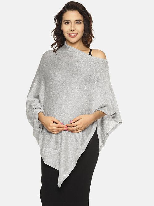 Fashionable Nursing Lurex Shrug