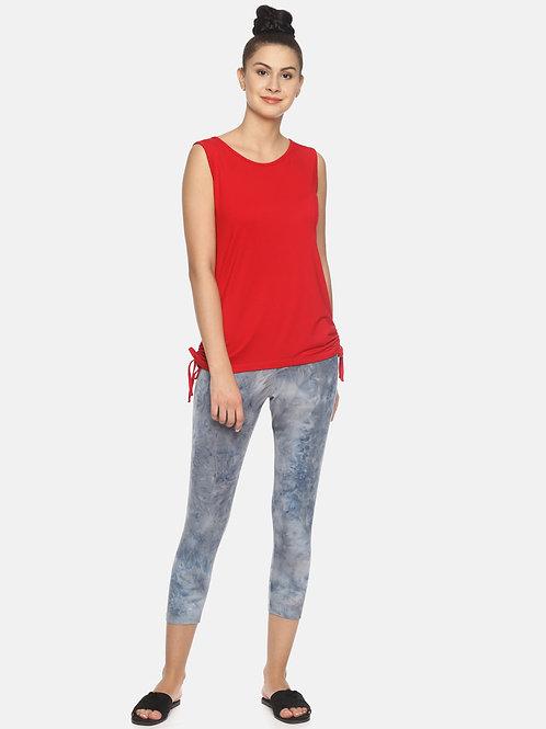 Trendy Tie & Dyed Leggings - Blue