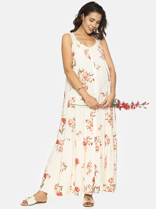 Large Floral Long Maxi Dress