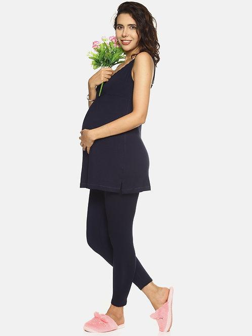 Cami Nursing Long Vest & Maternity Leggings - Combo