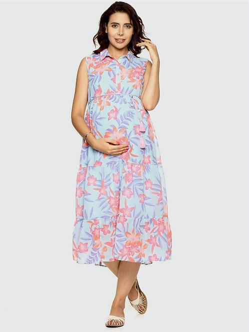 Printed Georgette Maternity Dress