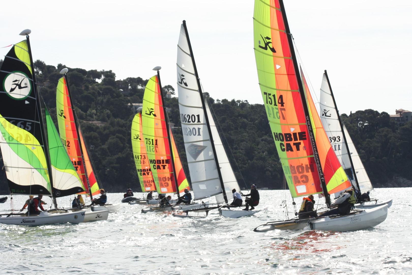 Course de catamarans au Lavandou