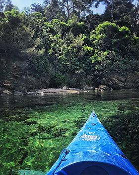 Location et randonnées de kayak Le Lavandou à La Voile de Cavalière