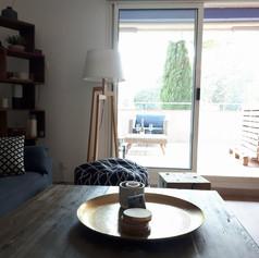 Salon appartement à louer au Lavandou