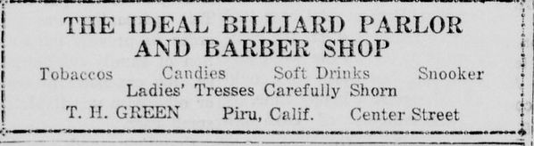 Ideal Billards Parlor Ads April 24, 1930