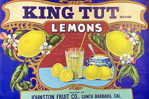 King Tut Crate Labels - Johnston Fruit Co.