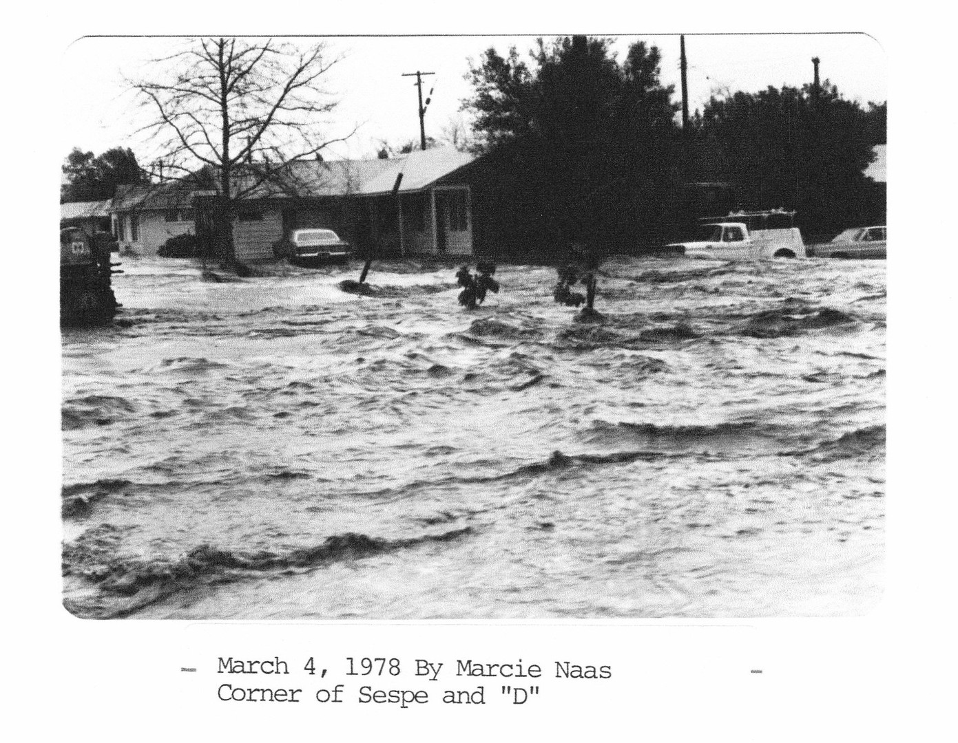 1978 Flood Corner of Sespe and D St.
