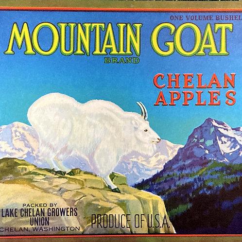 Mountain Goat Crate Label - Lake Chelan Growers
