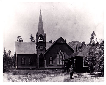 1890 David C Cook in front of PIru Churc