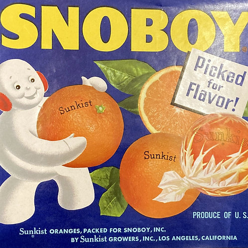 Snoboy Crate Label Sunkist Growers, In.