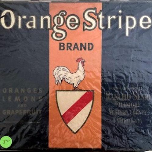 Orange Stripe Brand Crate Label from Rancho Sespe, Fillmore