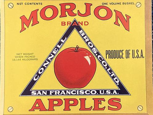 Morjon Crate Label - Connell Bros. Co. Ltd.