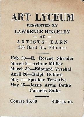 1937 Art Lyceum Schedule.JPG