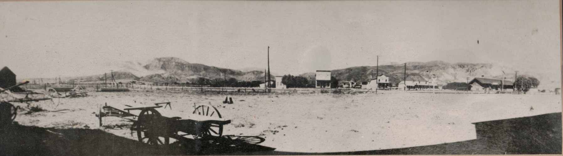 1890 Fire on San Cayetano Mountain, Fillmore in foreground