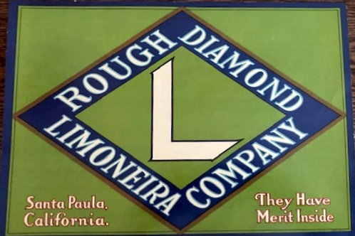 Rough Diamond Brand Crate Label from Limoneira Co. Santa Paula