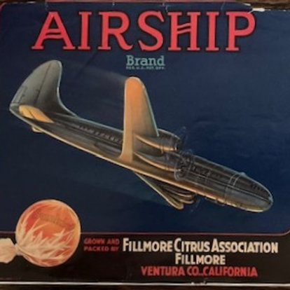 Airship Brand Crate Label from Fillmore Citrus Association