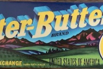 Sutter Buttes Crate Label from California Fruit Exchange, Yuba City