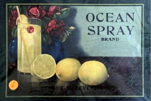 Ocean Spray Brand Crate Label from Teague-McKevett Co., Santa Paula