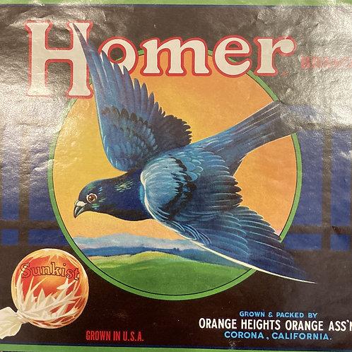 Homer Crate Label, Orange Heights Orange Ass'n